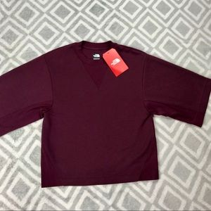 The North Face X-Small Maroon Train Top•NWT